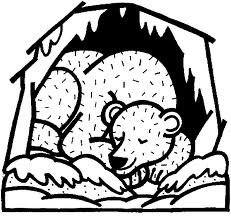 free hibernation coloring pages - photo#24