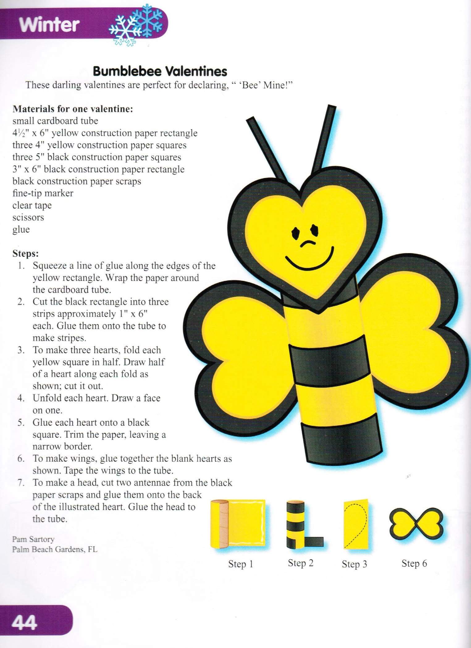 Craft bumble bee - Craft Bumble Bee Valentine S Day Arts And Crafts