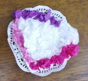 Mother's Day tissue paper doily corsage gift