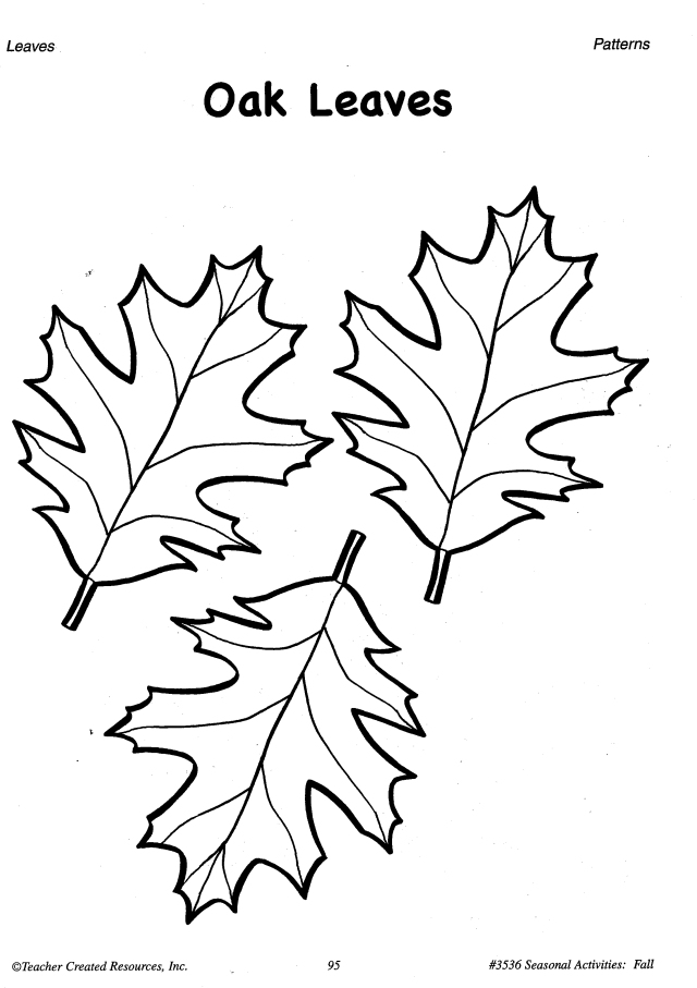 Printable Fall Leaves Patterns And Learning Activities O