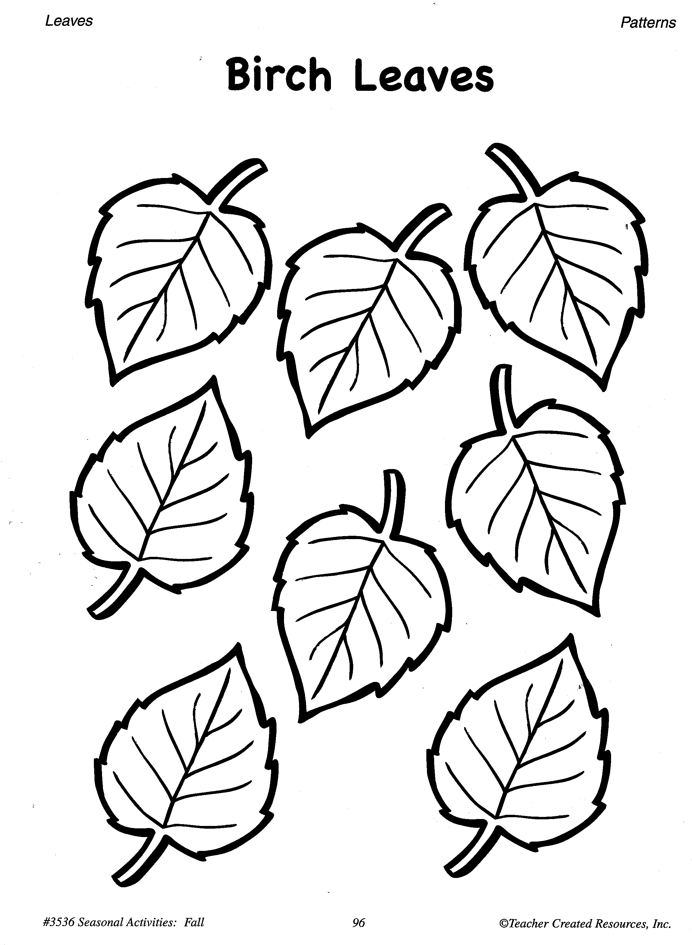 Fall pattern worksheets for preschool printable fall for Autumn leaf template free printables
