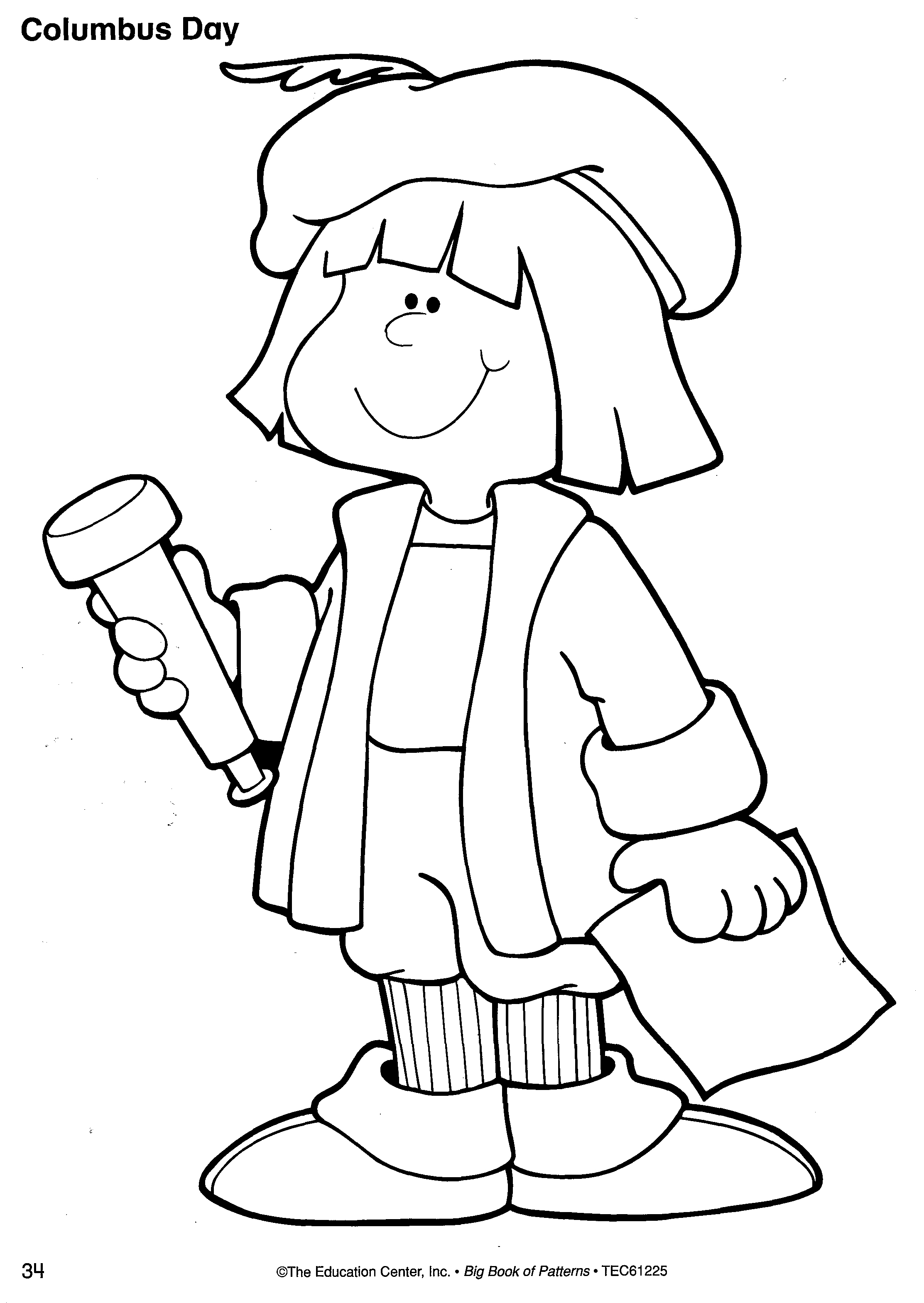 coloring pages of christopher columbus - christopher columbus coloring page the