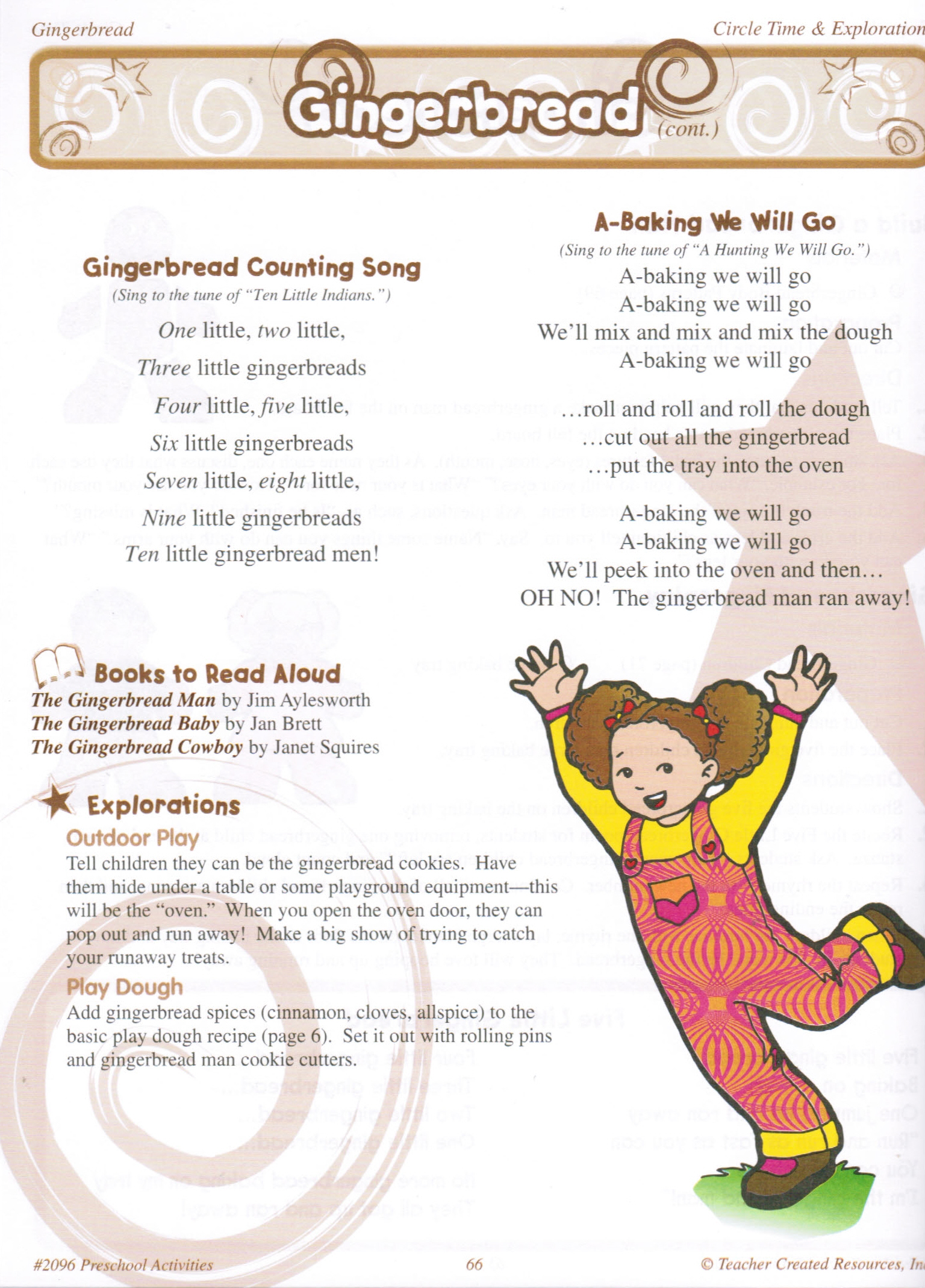 Gingerbread man learning activities and patterns o block books