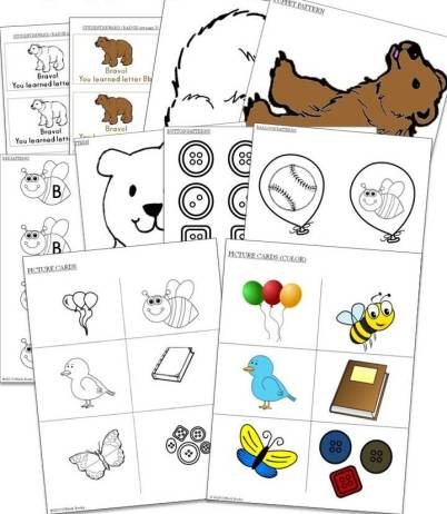 alphabet letters patterns and picture cards