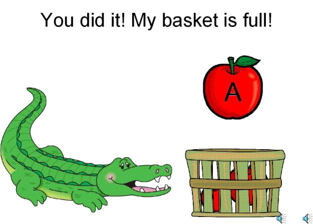 letter a interactive alphabet game