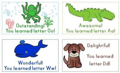 alphabet letter rewards