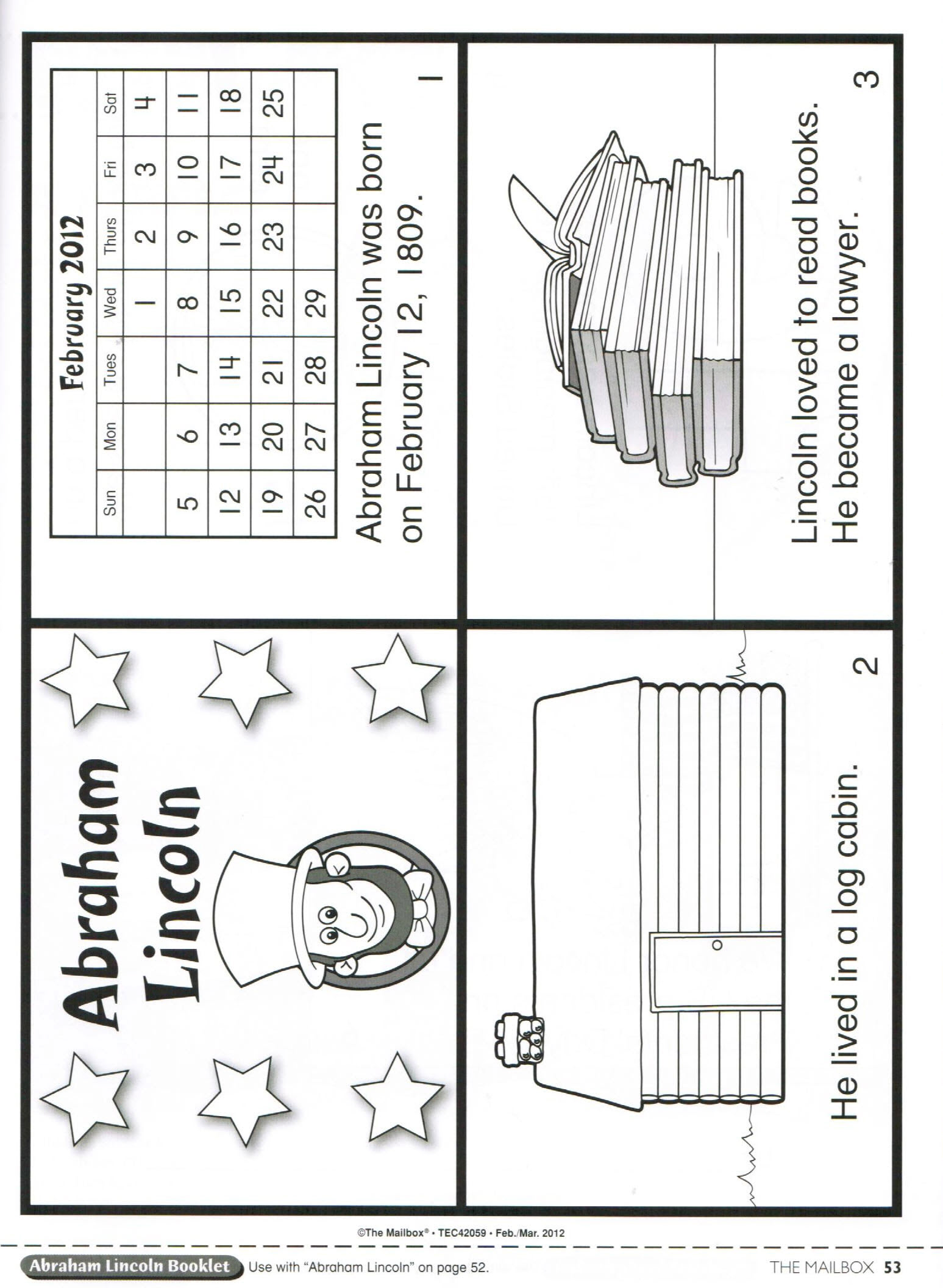 abraham lincoln log cabin coloring page photo11