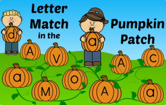 Letter & Letter Sound Match in the Pumpkin Patch