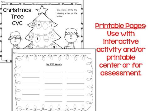 Christmas Tree CVC pages