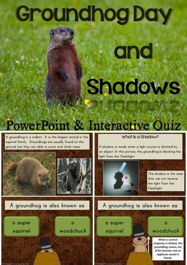 Groundhog Day PowerPoint and Interactive Quiz
