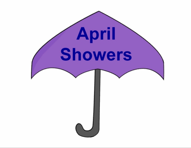 April Showers umbrella pattern