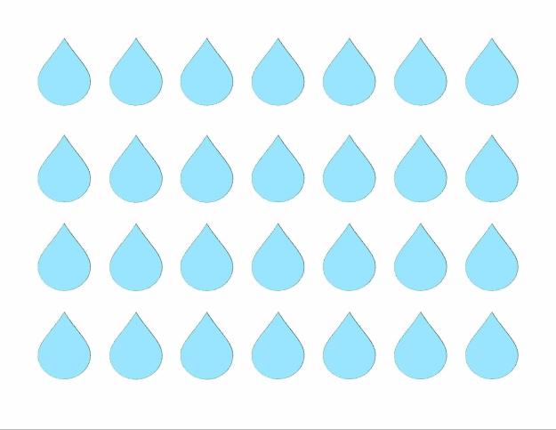 April Showers raindrop patterns