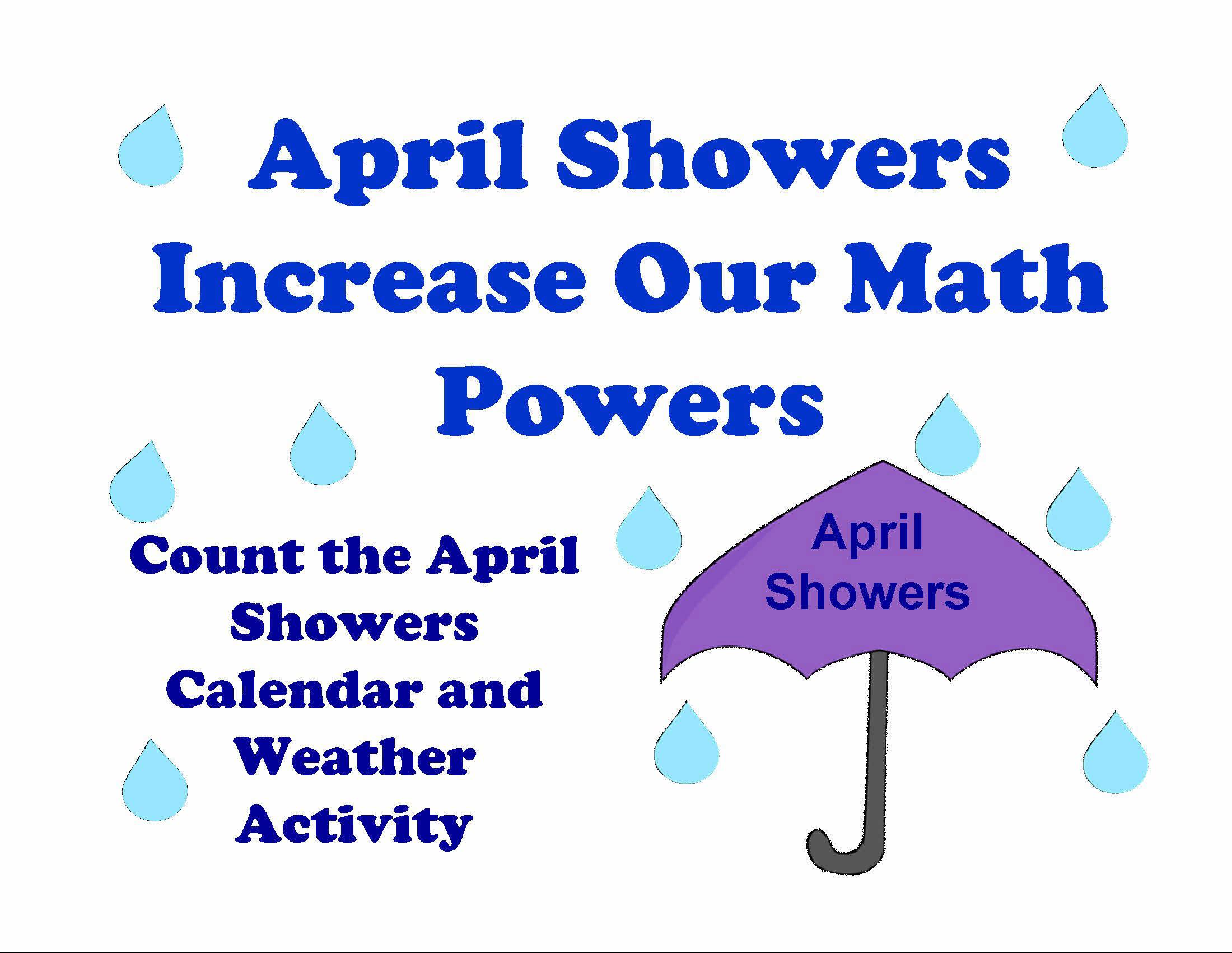 April Calendar Numbers For Preschool : Preschool april calendar activity lessons for little