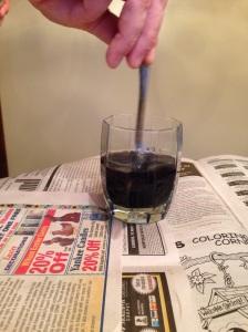 stir Kool-Aid egg dye