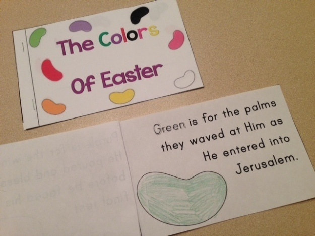 Colors of Easter Jelly Bean poem book