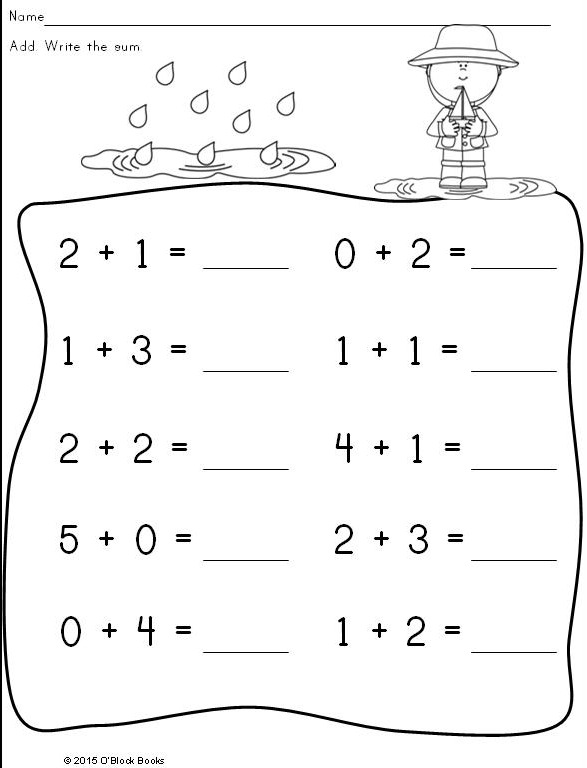 kindergarten spring math differentiated common core page - Kindergarten Activity Pages