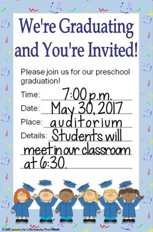 preschool graduation invitation editable