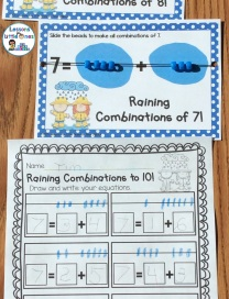 equation board for decomposing numbers practice