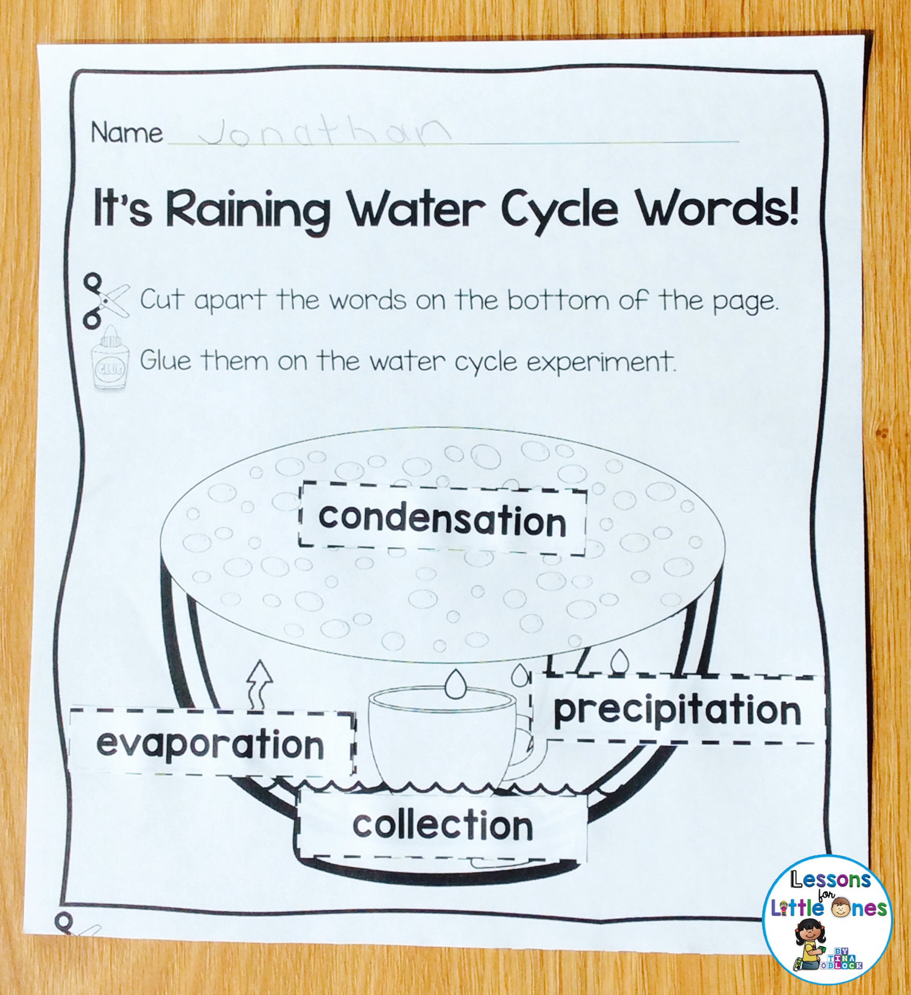Water Cycle, Rain Cycle Science Experiments and Craftivity ...