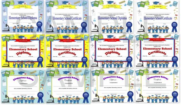 elementary school diploma editable