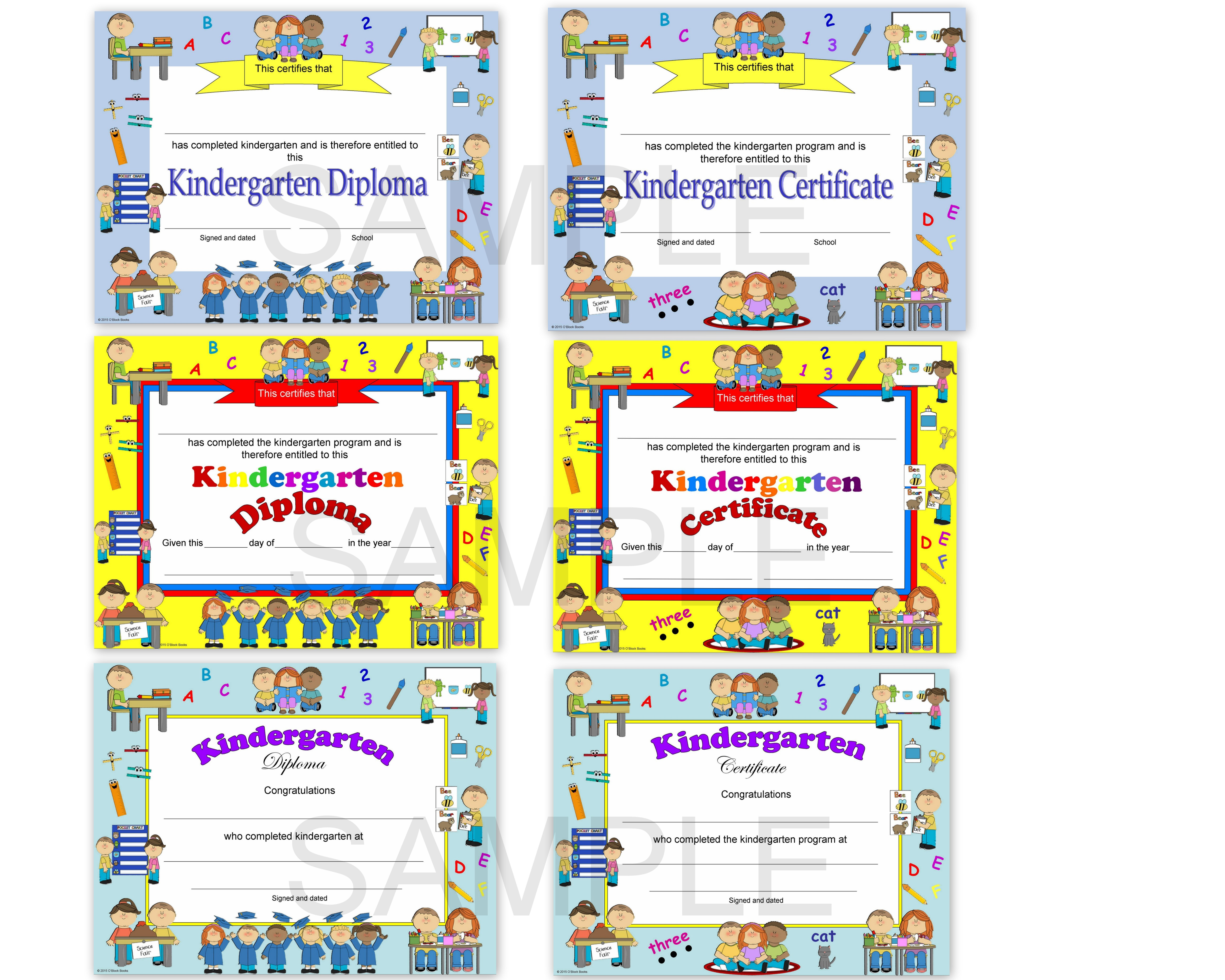 image about Kindergarten Certificate Free Printable titled kindergarten commencement certification template - Sinma