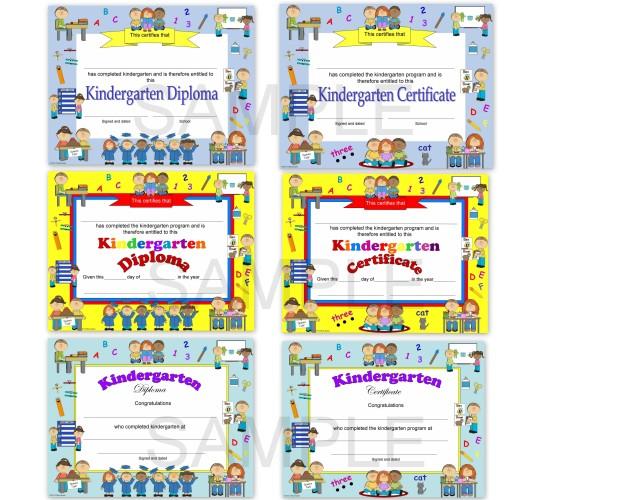 Kindergarten Diploma Kindergarten Certificate