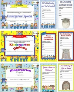 Kindergarten Diplomas, Graduation Invitations
