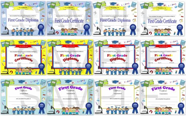 first grade diploma, first grade certificate