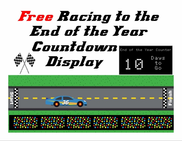 Free Racing to the End of the Year Countdown Display