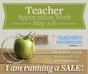 Teacher Appreciation Week Sale Teacher's Notebook