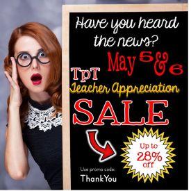 Teachers Pay Teachers Teacher Appreciation Sale