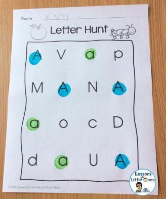 alphabet letter hunt page