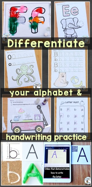 Differentiate your alphabet and handwriting practice