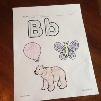 differentiated alphabet letter writing pages