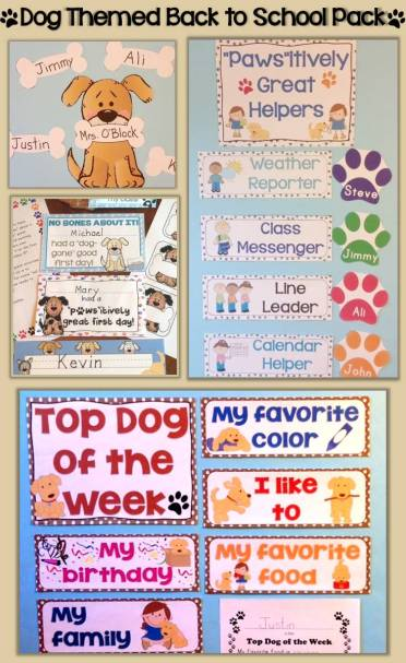 Dog Themed Back to School Activities & Class Decor