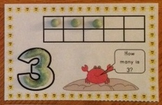 summer counting numbers play dough mat