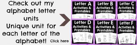 alphabet letter units
