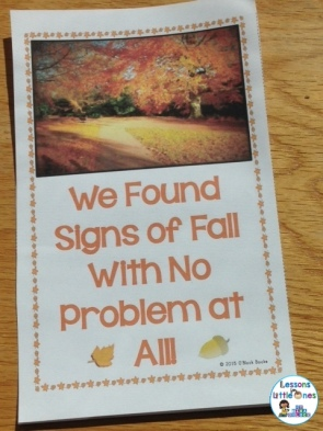 signs of fall class book