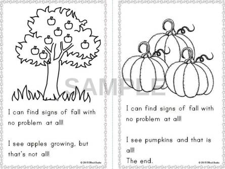 signs of fall emergent reader