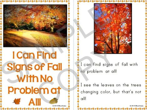 fall season emergent reader
