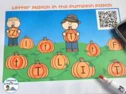pumpkin patch letter match with QR code