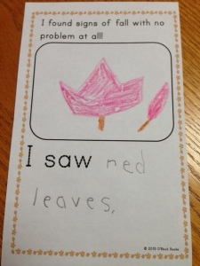 fall, autumn emergent reader student-made