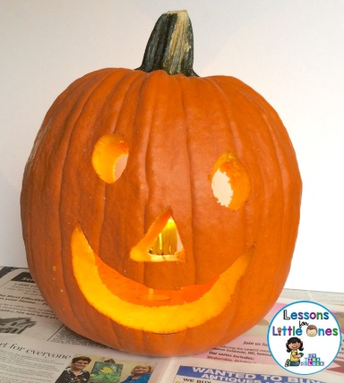 Christian pumpkin carving activity - Jesus is the light of the world