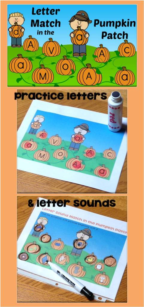letter match in the pumpkin patch
