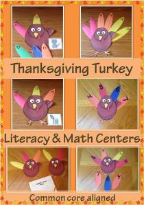 Thanksgiving Turkey Math Literacy Centers