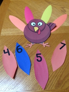 Thanksgiving turkey counting and numbers