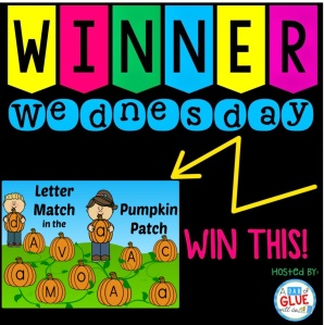 Winner Wednesday Letter Match in the Pumpkin Patch