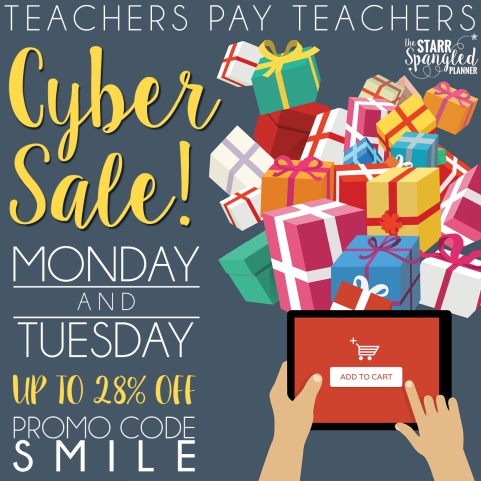 Cyber Monday sale Teachers Pay Teachers