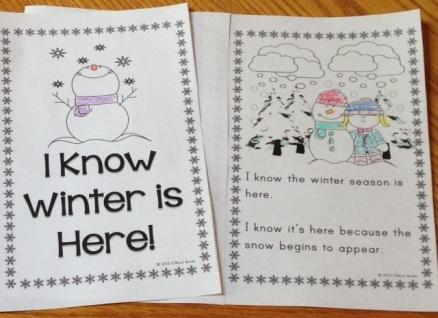 winter season emergent reader