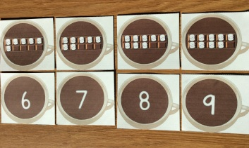 winter math cards for number sense